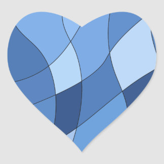 Sky blues - stylish trendy and simple design heart sticker
