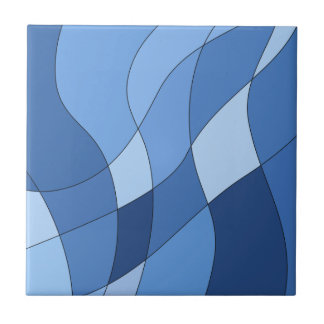 Sky blues - stylish trendy and simple design small square tile