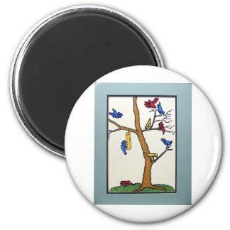 Sky Children  by Piliero 6 Cm Round Magnet