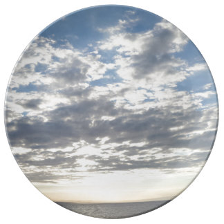 "Sky & Clouds 10.75"" Decorative Porcelain Plate"