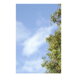 Sky, Clouds & Tree stationary Custom Stationery