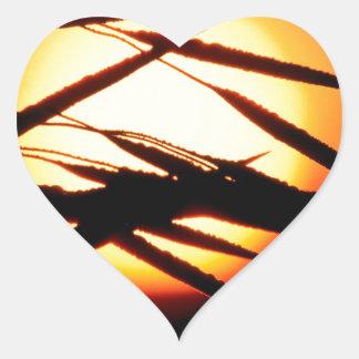 Sky Dewy Meadow Sunrise Oakland Michigan Heart Sticker