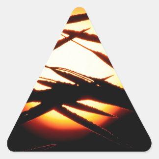 Sky Dewy Meadow Sunrise Oakland Michigan Triangle Sticker