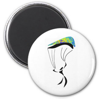 SKY DIVE EARTHVIEW 6 CM ROUND MAGNET