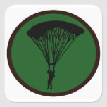 SKY DIVE GREEN SQUARE STICKERS