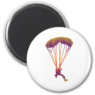 SKY DIVE MORNING 6 CM ROUND MAGNET