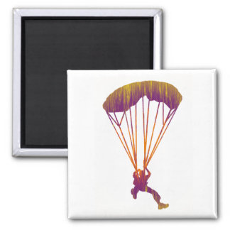 SKY DIVE MORNING SQUARE MAGNET