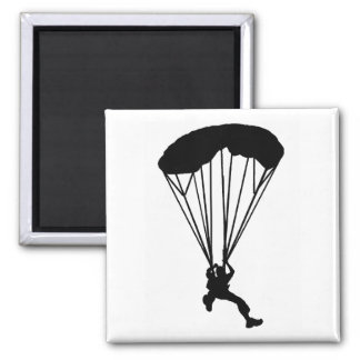 SKY DIVE NIGHT SQUARE MAGNET