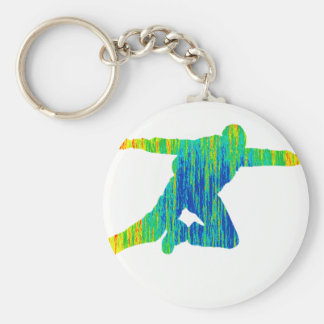 SKY DIVE OF BASIC ROUND BUTTON KEY RING