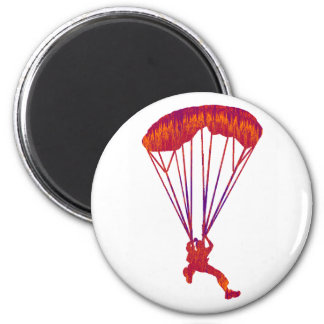 SKY DIVE PANNED 6 CM ROUND MAGNET