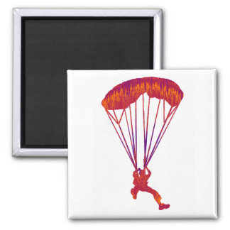 SKY DIVE PANNED SQUARE MAGNET