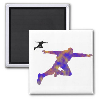 SKY DIVE SHOWN SQUARE MAGNET