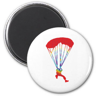 SKY DIVE SPOTTED 6 CM ROUND MAGNET