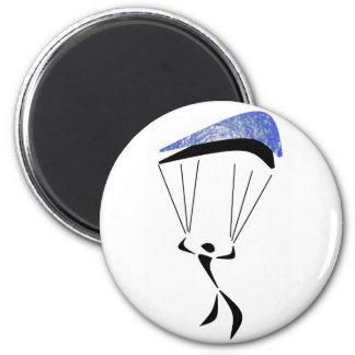 SKY DIVE STEADY 6 CM ROUND MAGNET