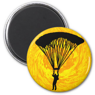 SKY DIVE SUNDRENCHED 6 CM ROUND MAGNET