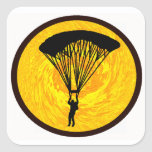 SKY DIVE SUNDRENCHED SQUARE STICKER