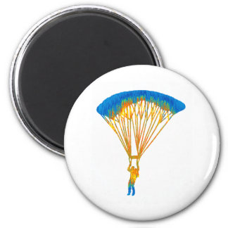 SKY DIVE TRIPS 6 CM ROUND MAGNET