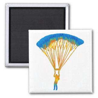 SKY DIVE TRIPS SQUARE MAGNET