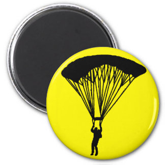 SKY DIVE TURN 6 CM ROUND MAGNET