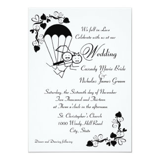 Sky Dive Wedding 13 Cm X 18 Cm Invitation Card