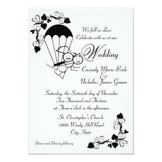 Sky Dive Wedding Card