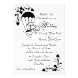 Sky Dive Wedding Personalized Announcement