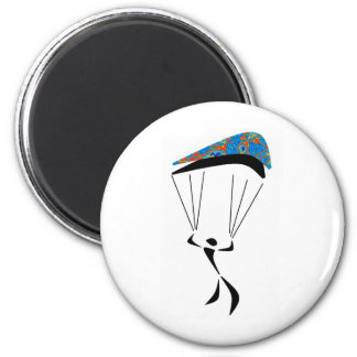 SKY DIVE ZONED 6 CM ROUND MAGNET