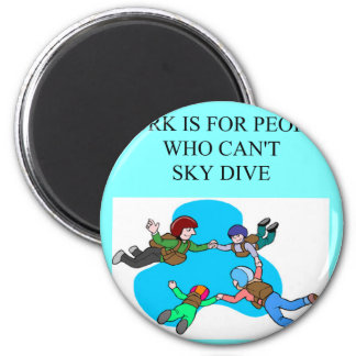 sky diver gifts 6 cm round magnet