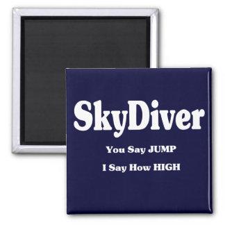 Sky Diver Square Magnet