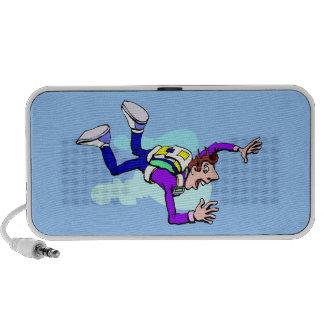 Sky Diving Design Doodle Mp3 Speaker
