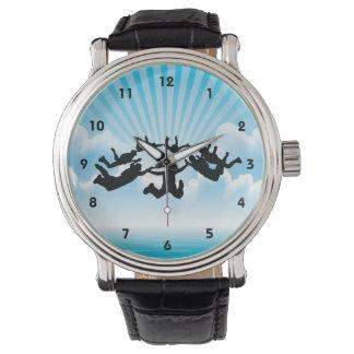 Sky Diving Design Watch