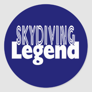 Sky Diving Legend Classic Round Sticker