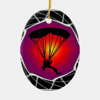 SKY DIVING READY CHRISTMAS ORNAMENT