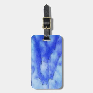 sky drawing luggage tag