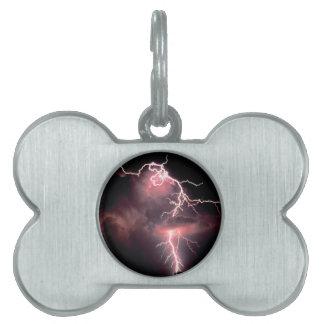 Sky Electric Evening Pet ID Tag