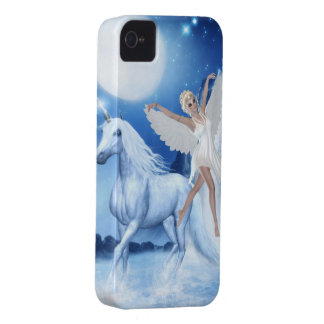 Sky Faerie Asparas and Unicorn iPhone 4 Case