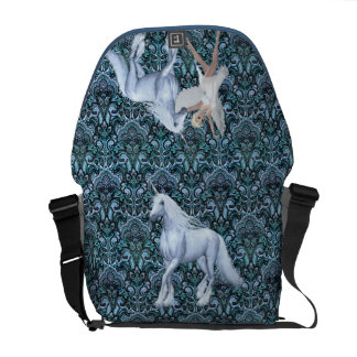 Sky Faerie Asparas and Unicorn Messenger Bags