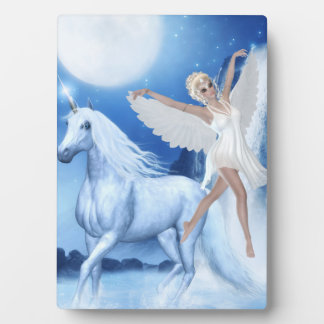 Sky Faerie Asparas and Unicorn Plaque