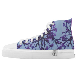 sky floral printed shoes