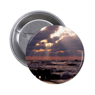 Sky Frantic Waves Lake Michigan Pinback Buttons
