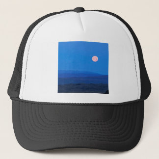 Sky Full Moon Aboverolling Tundra Alaska Trucker Hat