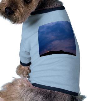 Sky Gloomy Purple Setting Dog Tee Shirt