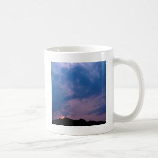 Sky Gloomy Purple Setting Coffee Mug