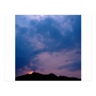 Sky Gloomy Purple Setting Postcard
