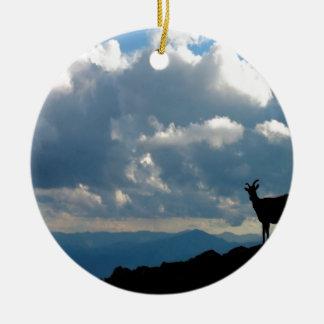 Sky Goats Paradise Christmas Ornament
