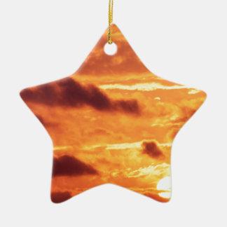 Sky Golden Glow Ceramic Star Decoration