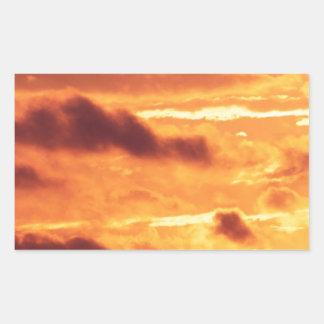 Sky Golden Glow Percy Warner Tennessee Rectangular Sticker