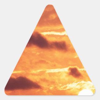 Sky Golden Glow Percy Warner Tennessee Triangle Sticker