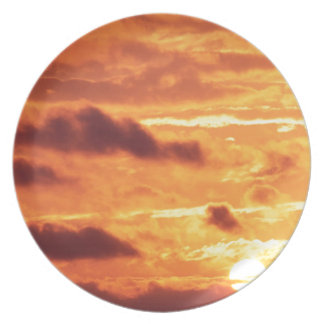 Sky Golden Glow Party Plates