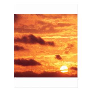 Sky Golden Glow Postcard